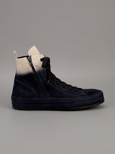 Ann Demeulemeester Dyed Effect Trainer Shoes for Men   www.eff-style.com