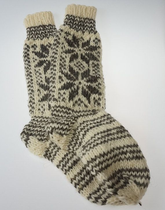 SALE !!! Ecological hand knitted Very LONG Knee SOCKS 100% sheep wool very warm hand made Good gift!