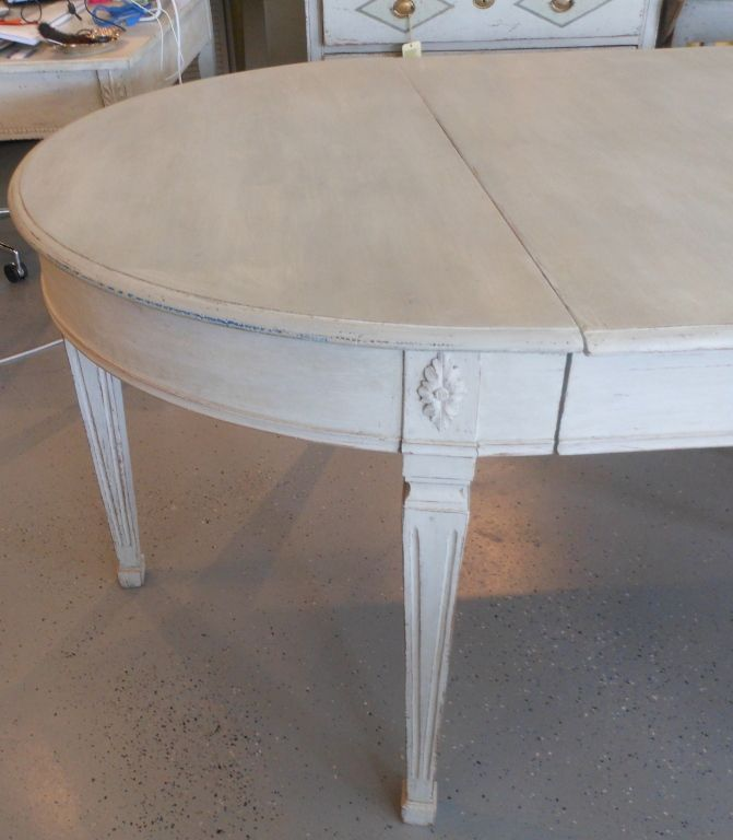 19th Century Antique Swedish Painted Dining Table 5