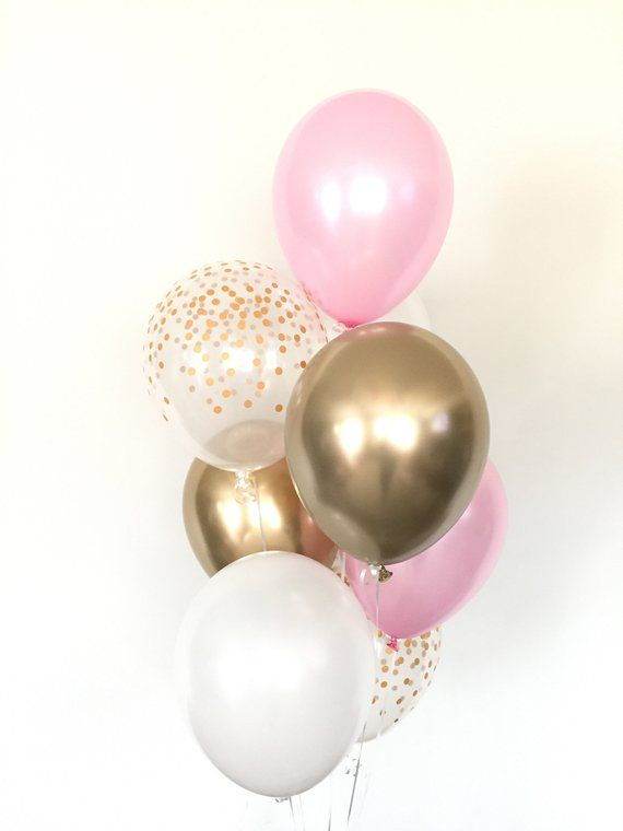 Pink And Gold Balloons Pink And Chrome Gold Balloons Pink Etsy In 2021 Gold And Pink Balloons Pink Balloons Gold Balloons