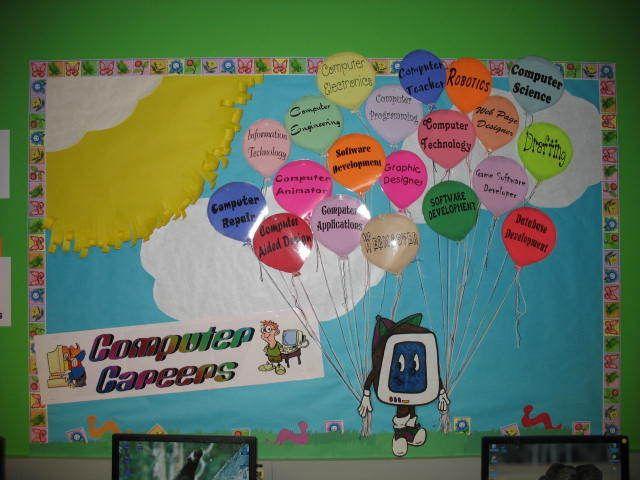 Classroom Decor Projects ~ Computer careers bulletin board lab pinterest