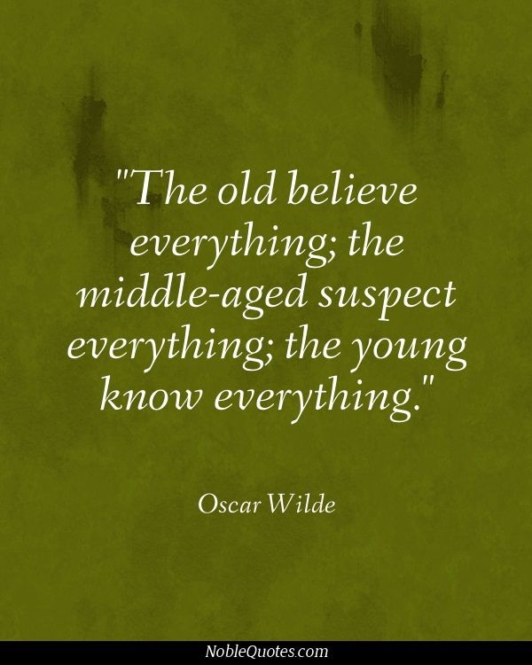 Oscar Wilde Quotes About Age