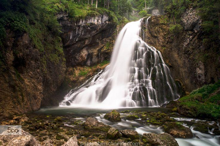 Alpine Waterfall by Christoph Oberschneider on 500px