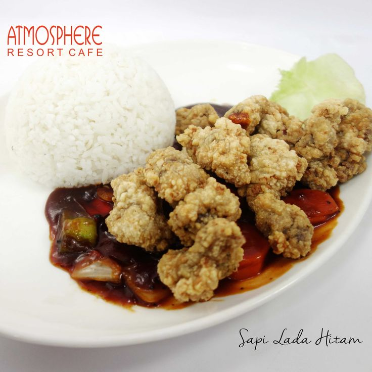 Breaded cube beef in spicy blackpepper sauce