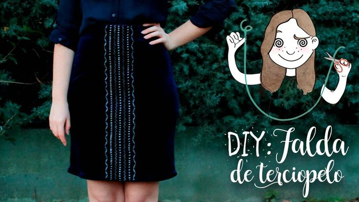Tejemos juntos una falda de terciopelo bordada