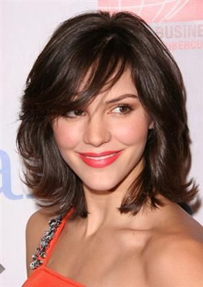 I don't think I could go this short but I love the look. medium length hair with bangs