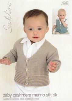Sublime - 6022 - Seaside Cardi and Vest (birth to 3 years)