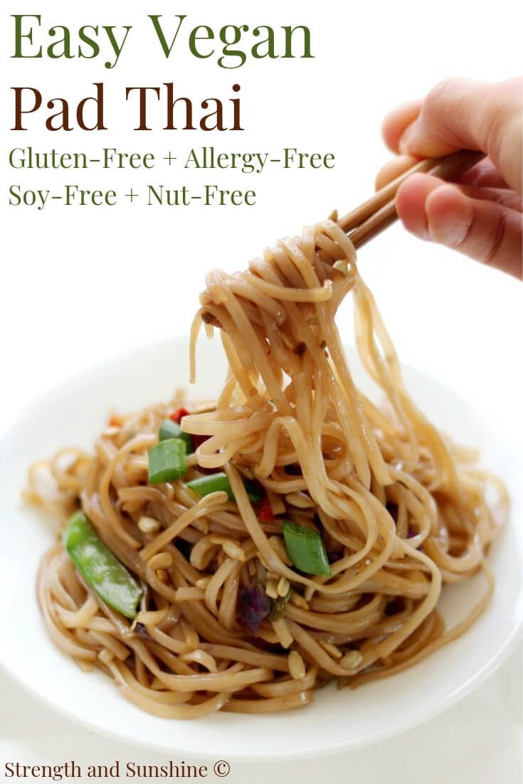 Easy Vegan Pad Thai (Gluten-Free, Allergy-Free)