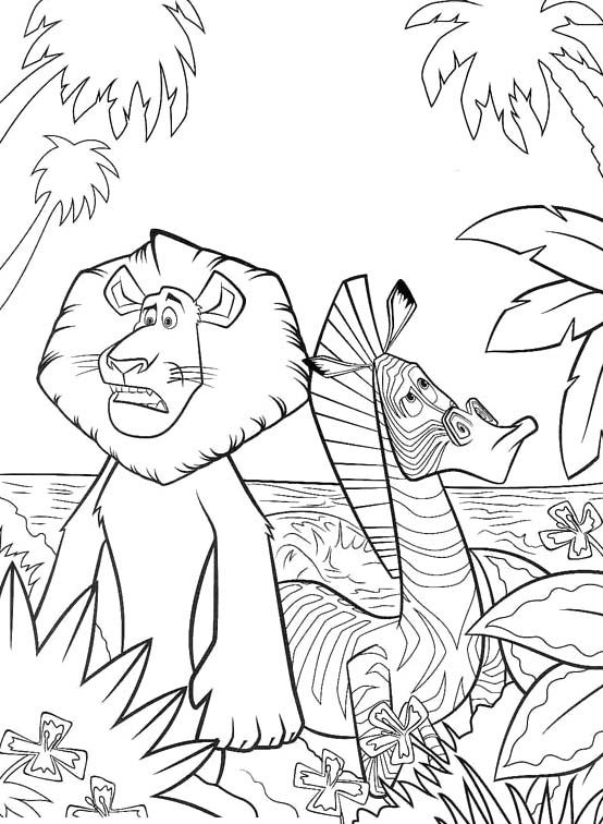 Pictures Alex With Marty Madagascar Coloring Pages