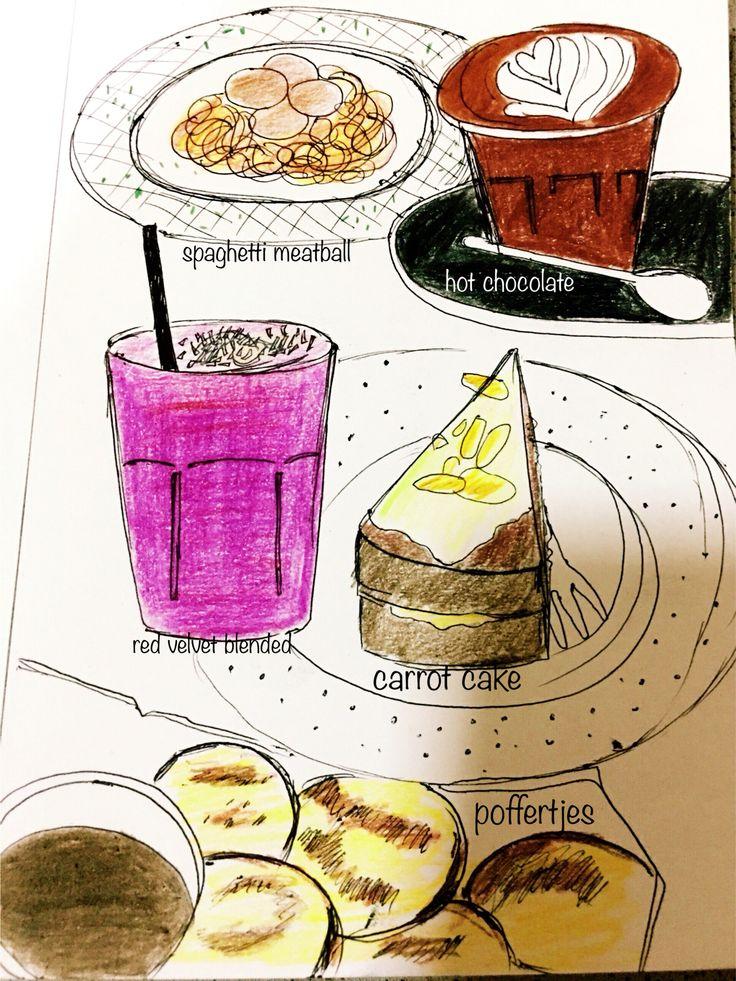 .... Weekend date @blackbarncoffee ✌️@poo_carolineart #poo_carolineart  #sunday #date #art #artwork #design #doodle #drawing #handdrawing #graphicdesign #sketch #doodle #designworld #food #culinary #instagram #instalike #like #coffee #cafe