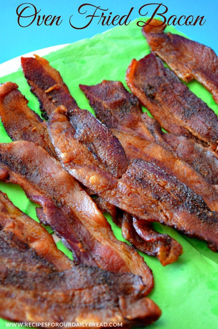 Oven Fried Bacon is the Easiest Way to Prepare Bacon. I was concerned about safety with the bacon cooking in the oven until I tried it.