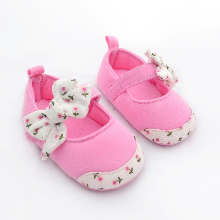 2017 Nouvelle Princesse Bébé Chaussures D'enfants En Bas  Âge Bowknot Chaussures Bébé Fond Mou Coton Prewalkers M