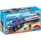Fourgon et vedette de police Playmobil city action 5187