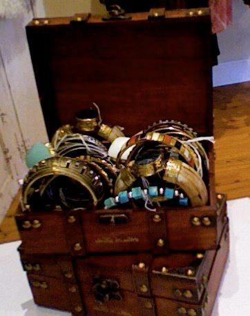 Treasure chest of barbarian gypsy jewels