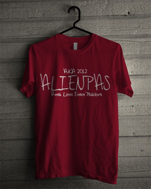 T-shirt Alienpas #2 (Maroon)