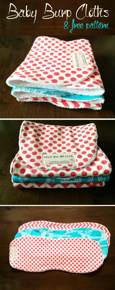 DIY Baby Burp Cloths with Free Pattern