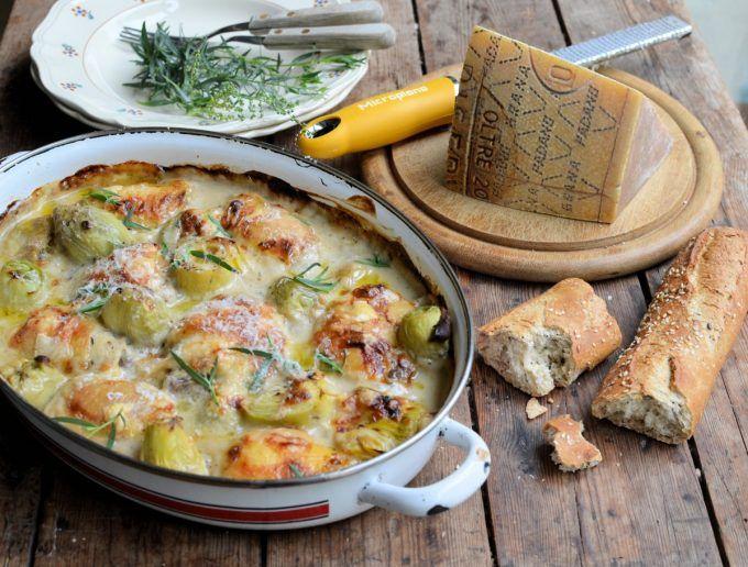 Lavender and Lovage | Grana Padano Chicken and Artichoke Gratin | http://www.lavenderandlovage.com