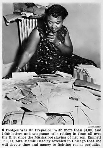 Letters of Support Sent To Mother of Emmett Till - Jet Magazine, September 22, 1955
