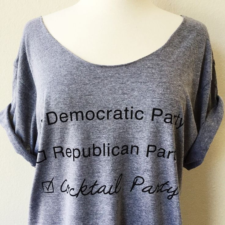 Cocktail Party Off-Shoulder Triblend Raw Edge Swanky Tee Funny Graphic Tee Yoga Top - ONE SIZE by everfitte on Etsy https://www.etsy.com/listing/273661560/cocktail-party-off-shoulder-triblend-raw