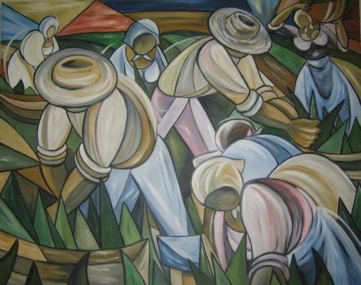 COLHEITA - Pintura,  100x80 cm ©2003 por Denise Helena Ckless -