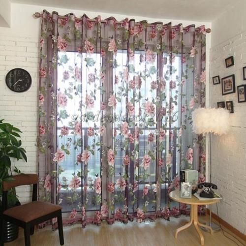 Floral-Tulle-Drape-Window-Panel-Sheer-Scarf-Valance-Voile-Balcony-Door-Curtain