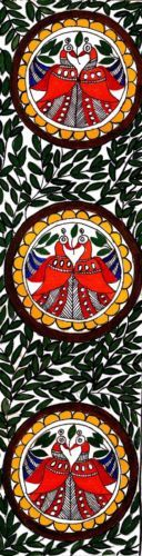 Large Size Madhubani Painting A RARE Indian Art Without Frame 39x10 Inches…