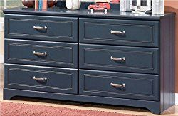 Ashley Furniture Signature Design – Leo Chest of Drawers – 6 Drawer Dresser – Traditional Style – Blue