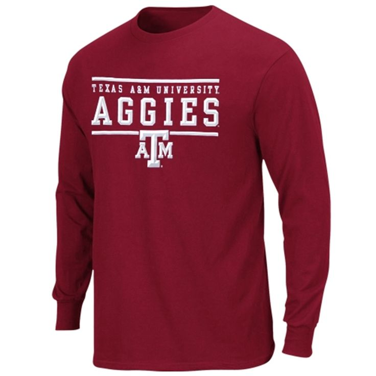 Texas A&M Aggies Lasting Strength Long Sleeve T-Shirt - Maroon