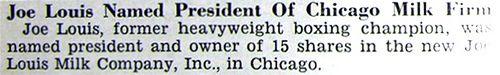 Joe Louis Named President of Chicago Milk Firm - Jet Magaz… | Flickr