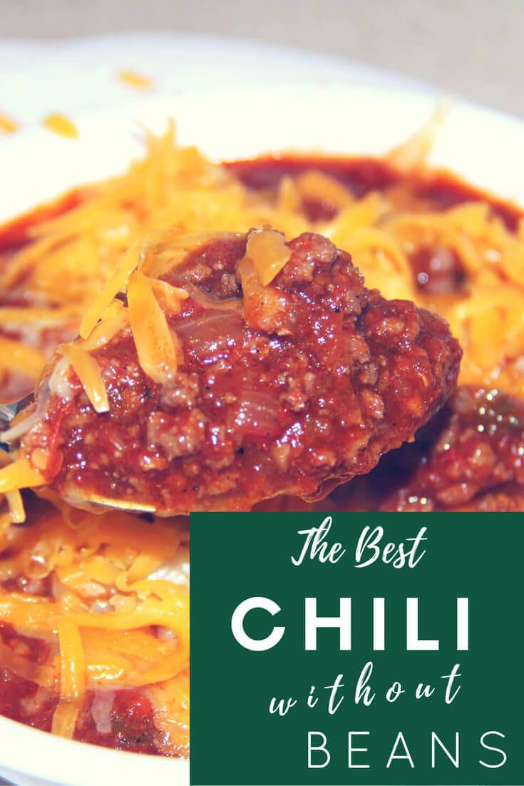 Chili without Beans is full of beef, peppers, tomatoes, and spices—it's so flavorful and just right for game day or a chilly night at home! via @insouthernktchn
