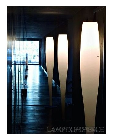 AV Mazzega Stand up floor #lamp #white Design Christophe Pillet