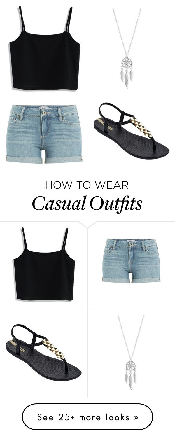 """Casual"" by chloeminuti on Polyvore featuring Paige Denim, Chicwish, Lucky Brand and IPANEMA"