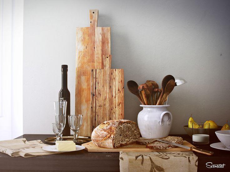FREE SCENE - Genova kitchen scene (full CGI) on Behance