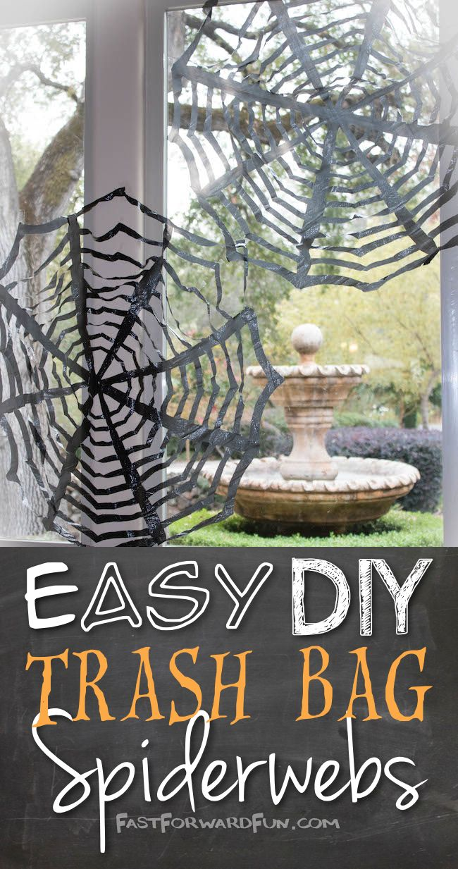 diy halloween decor using trashbags so easy and cheap fun video tutorial and - Cheap Halloween Diy Decorations