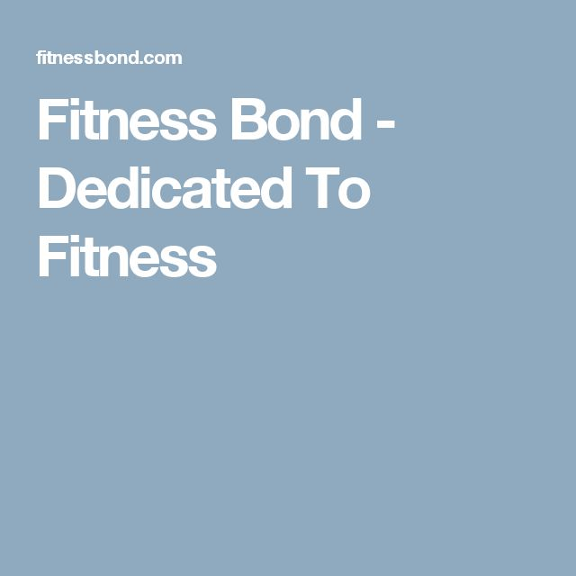 Fitness Bond - Dedicated To Fitness