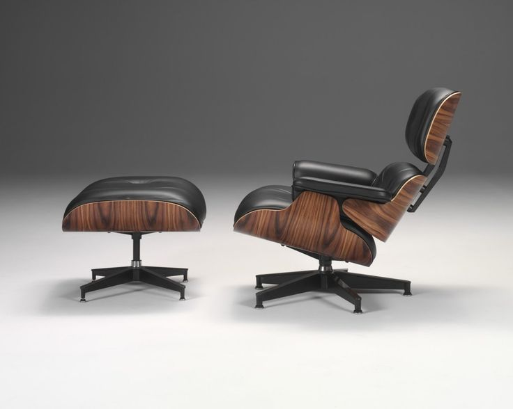Ergonomic Eames Black Leather in Wood Lounge Chair and Magnificent Timber Black Ottoman , Furniture & Interior, 1200x960 pixels