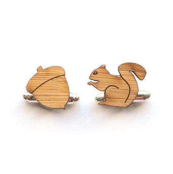 Cute handcrafted eco friendy cufflinks.