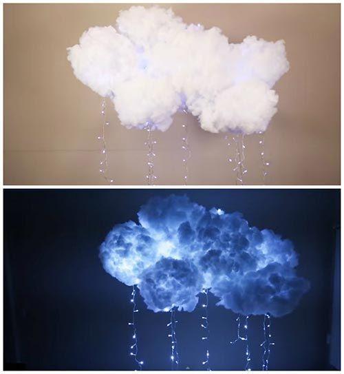 DIY Hanging Cloud Light                                                                                                                                                      More