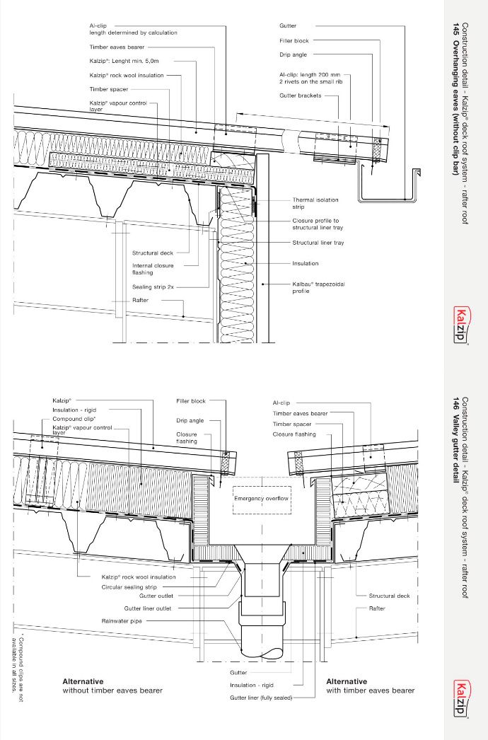 Pin By Akwaaa On Kalzip Details Drawings Roof Architecture Architecture Details Concrete House
