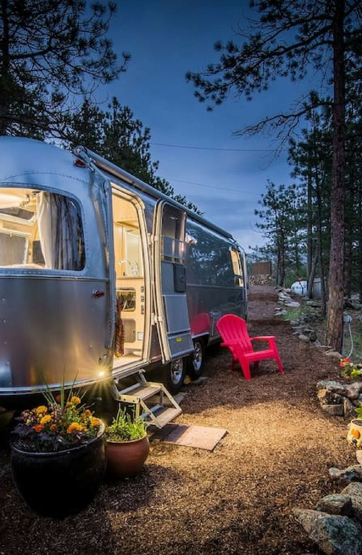 Airstream Caravan Vintage modern airstream rental near the rocky mountains in boulder