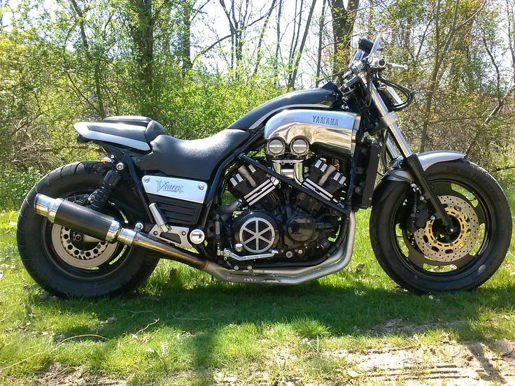 my 1997 custom Yamaha v-max streetfighter handmade custom parts made by me. 1200cc v-4 110 hp handmade Rear flip up seat and fender / hid v headlight 70 watts handmade bar-end mirrors and many others....