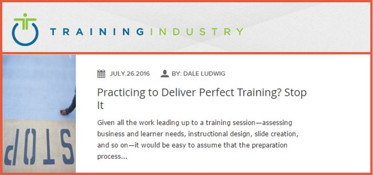 Practicing to Deliver Perfect Training? Stop It http://theorderlyconversation.com/wordpress/practicing_to_deliver_perfect_training_stop-it/?utm_campaign=coschedule&utm_source=pinterest&utm_medium=Greg&utm_content=Practicing%20to%20Deliver%20Perfect%20Training%3F%20Stop%20It
