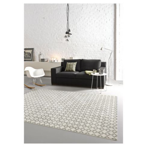 Alfombra Optic punto blanco/gris 200x290 cm