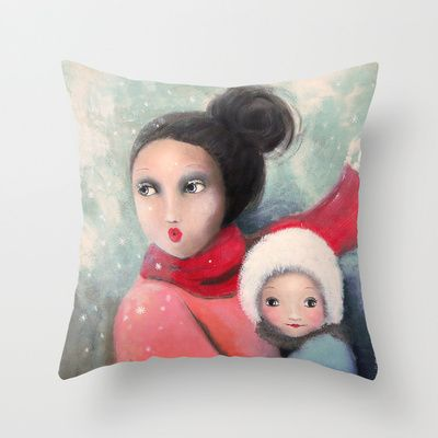 Mom Throw Pillow by Malin Östlund - $20.00 FREE Worldwide Shipping Today
