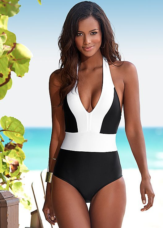 Color block one piece from VENUS Swimsuit Selection