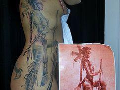 Mohawk tattoo By Tattooist Castro