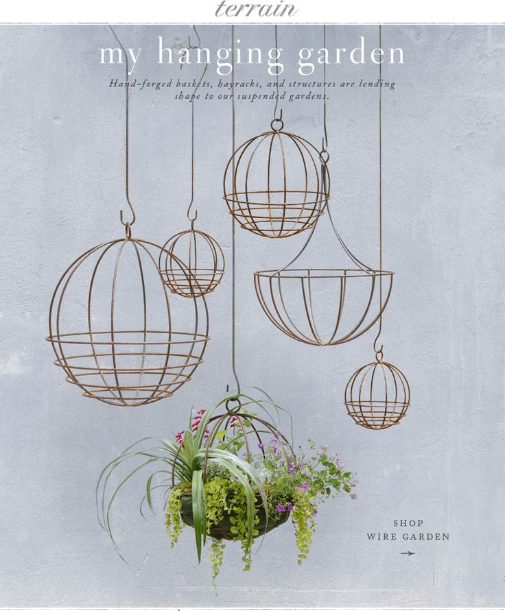 Hanging planters at terrain.com #AnthropologieEU #PinToWin