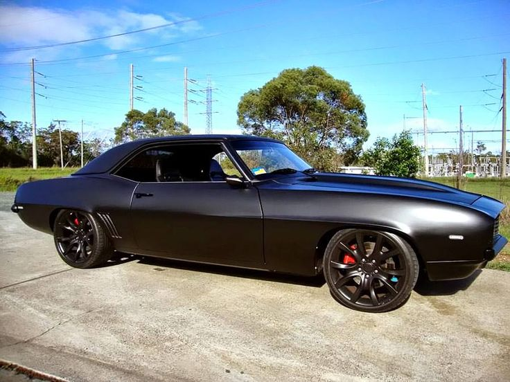 Matte Black Chevrolet Camaro | 1969 chevy camaro, Best ...