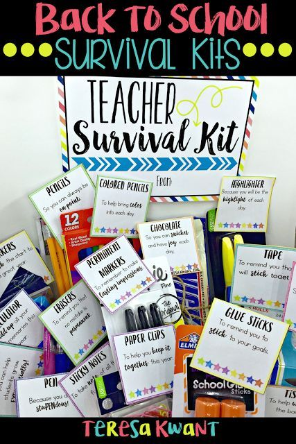 Back to School Survival Kits - Teresa Kwant