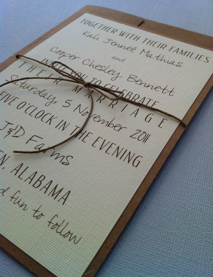 Kraft Invitation with Jute